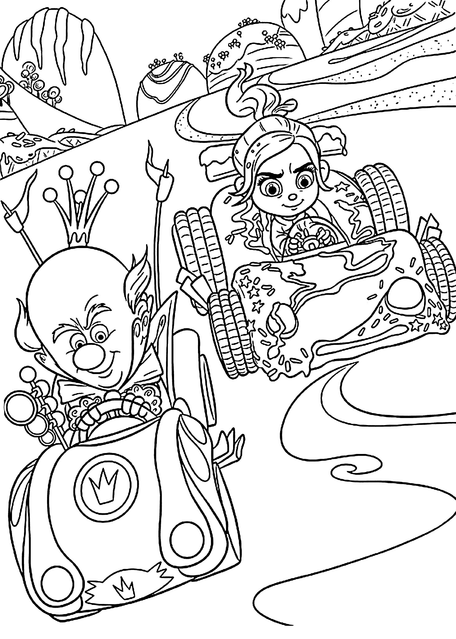 1483x2079 Cool Ralph And Vanellope Coloring Pages For Kids Inspirational