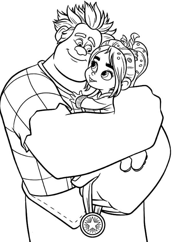 600x843 Wreck It Ralph Vanellope Coloring Pages Wreck It Ralph Coloring