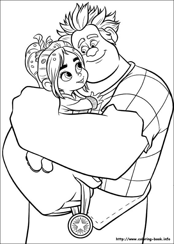 567x794 Wreck It Ralph Coloring Picture Aw! I Just Love It When Ralph Is