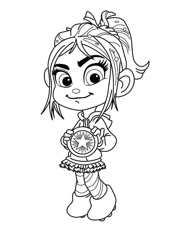 600x771 Coloring Wreck It Ralph Vanellope Coloring Pages Sketch Page Von