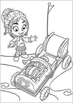 236x330 Coloring Page Wreck It Ralph