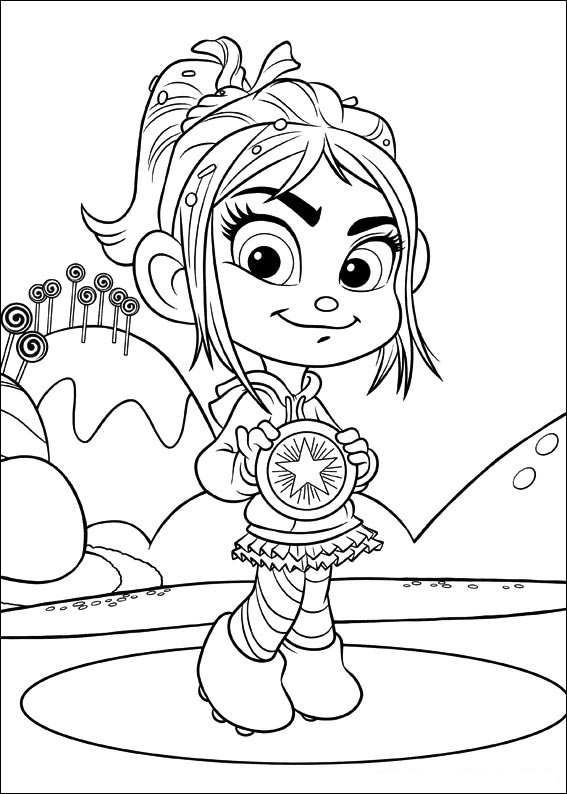 567x794 Coloring Page Wreck It Ralph