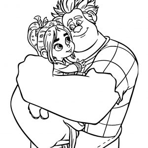 300x300 Disney Coloring Pages Wreck It Ralph Copy Ralph And Vanellope