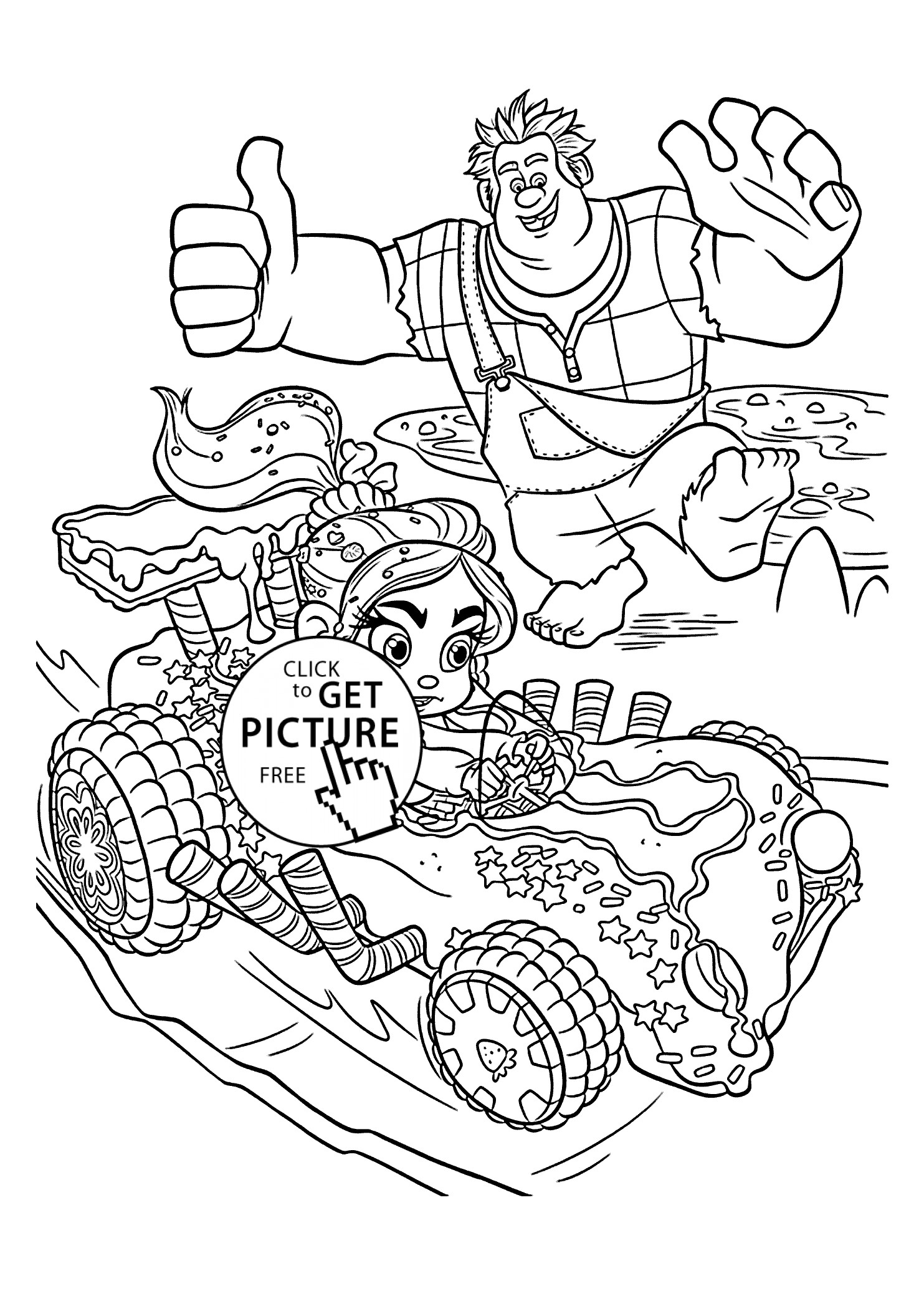 1483x2079 New Ralph And Vanellope Coloring Pages For Kids Best Coloring
