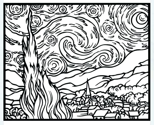 629x510 Van Gogh Sunflowers Coloring Page Van Sunflower Colouring Pages