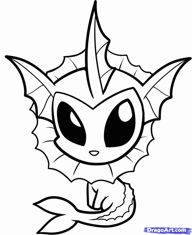 Vaporeon Coloring Page