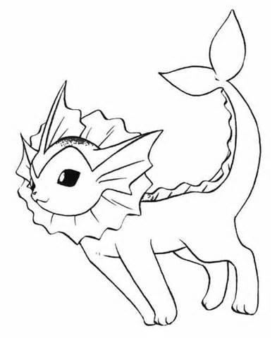 393x480 Vaporeon Coloring Pages Annabelle Pokemon