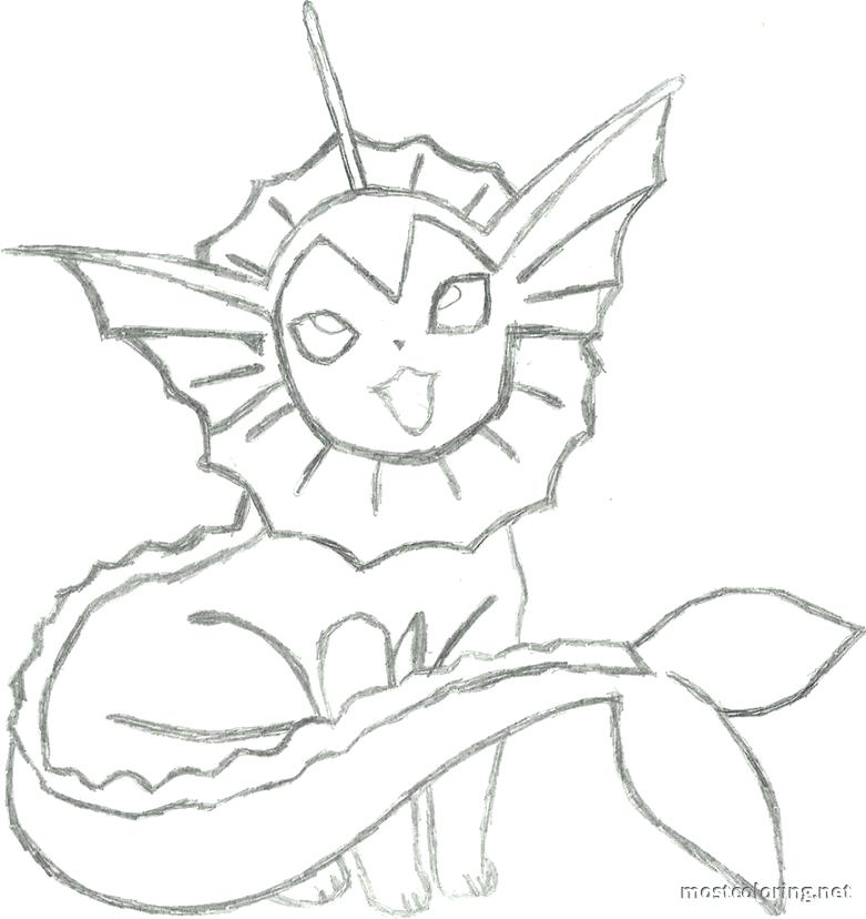 781x828 Vaporeon Coloring Pages Coloring Page Pic Vaporeon Colouring Pages