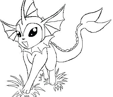 382x329 Vaporeon Coloring Pages Coloring Pages Amazing Colouring Vaporeon