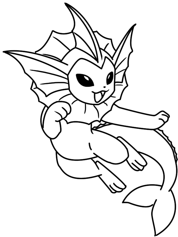 600x796 Vaporeon Coloring Page