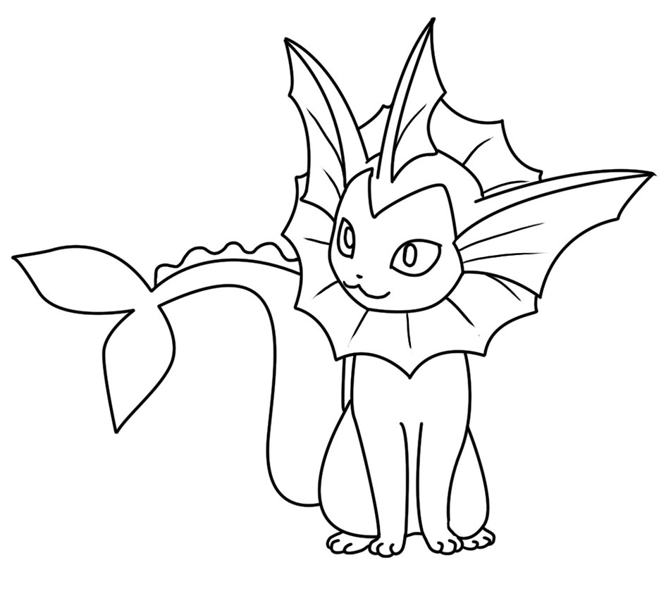 945x846 Vaporeon Coloring Page