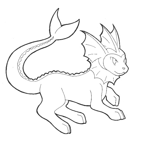 508x497 Pokemon Vaporeon Coloring Pages