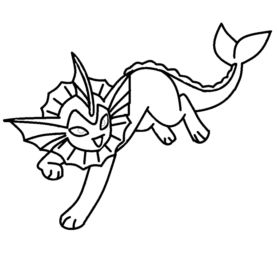 Vaporeon Pokemon Coloring Pages At Getdrawings Free Download