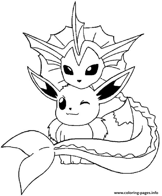 663x800 Vaporeon Coloring Page Valuable Vaporeon Coloring Pages Pokemon