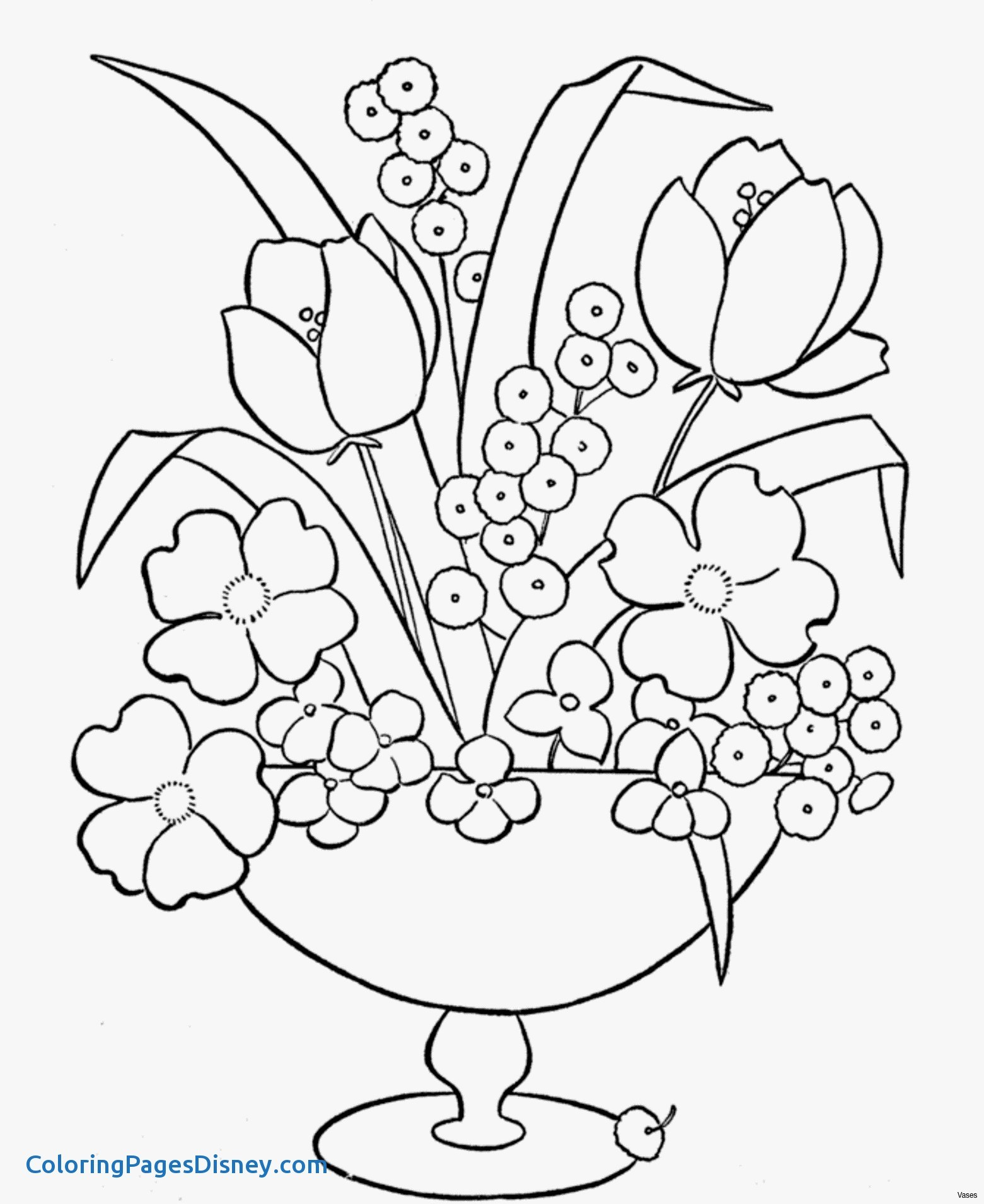 1561x1911 Coloring Pages Vase Fresh Coloring Pages Roses New Vases Flower