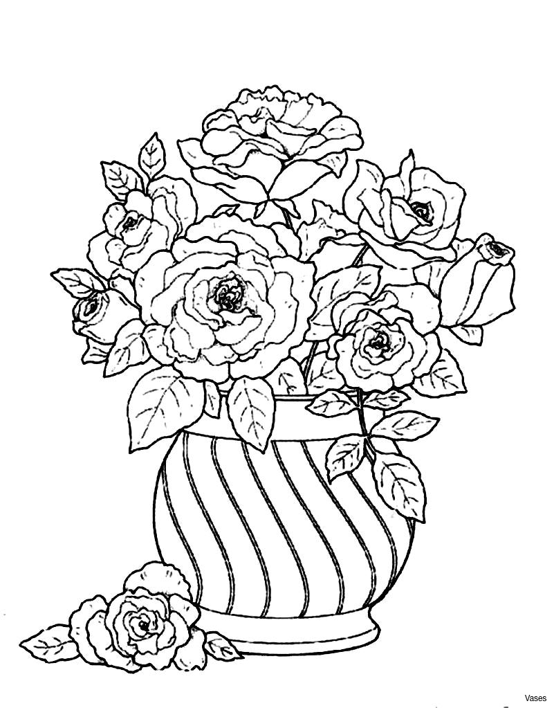 801x1023 Cool Flowers In A Vase Coloring Page For Kids Free Printable