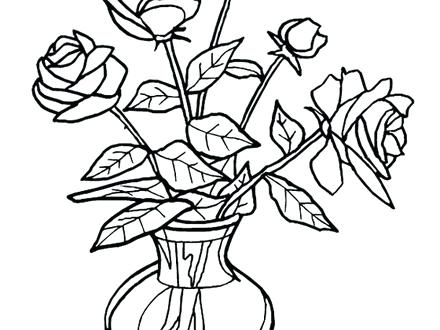 Vase Coloring Page at GetDrawings.com | Free for personal ...