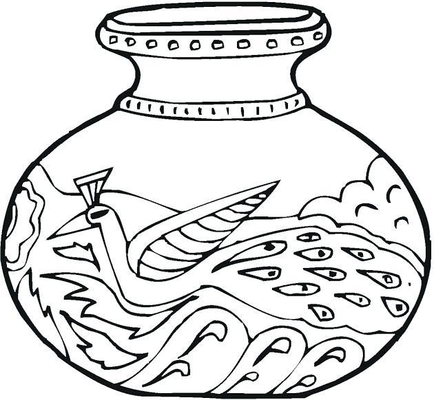630x582 Greek Vase Coloring Page Ancient Greek Vase Coloring Page