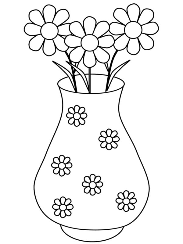 600x800 Vases Of Flowers Coloring Pages To Color