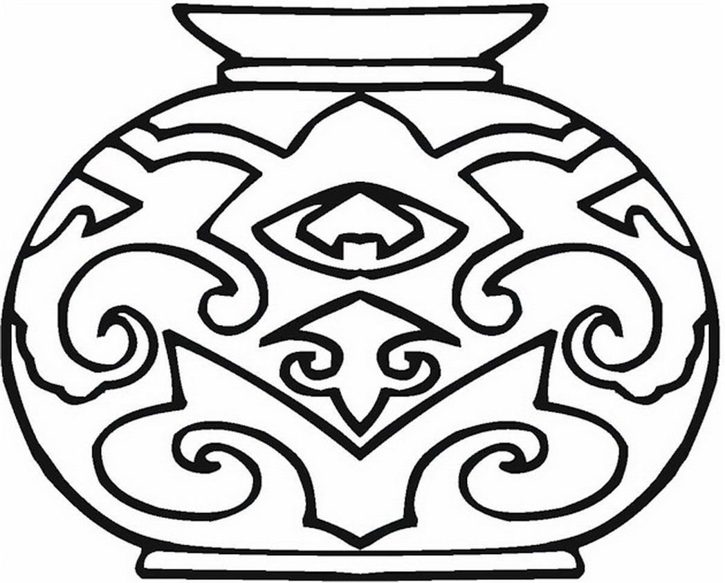 1048x843 Vase Coloring Page Colorpagesformom Coloringpages Vases