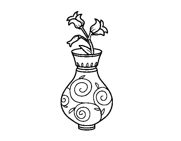 600x470 Bellflower In A Vase Coloring Page