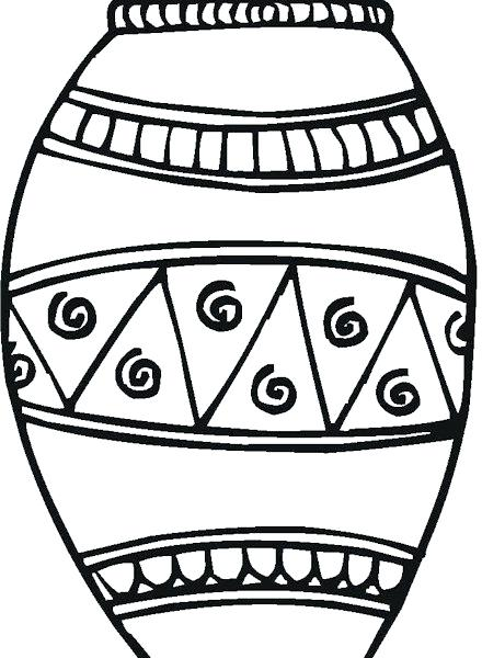 440x600 Coloring Page Vase Coloring Pages Greek Vase Coloring Page Fresh