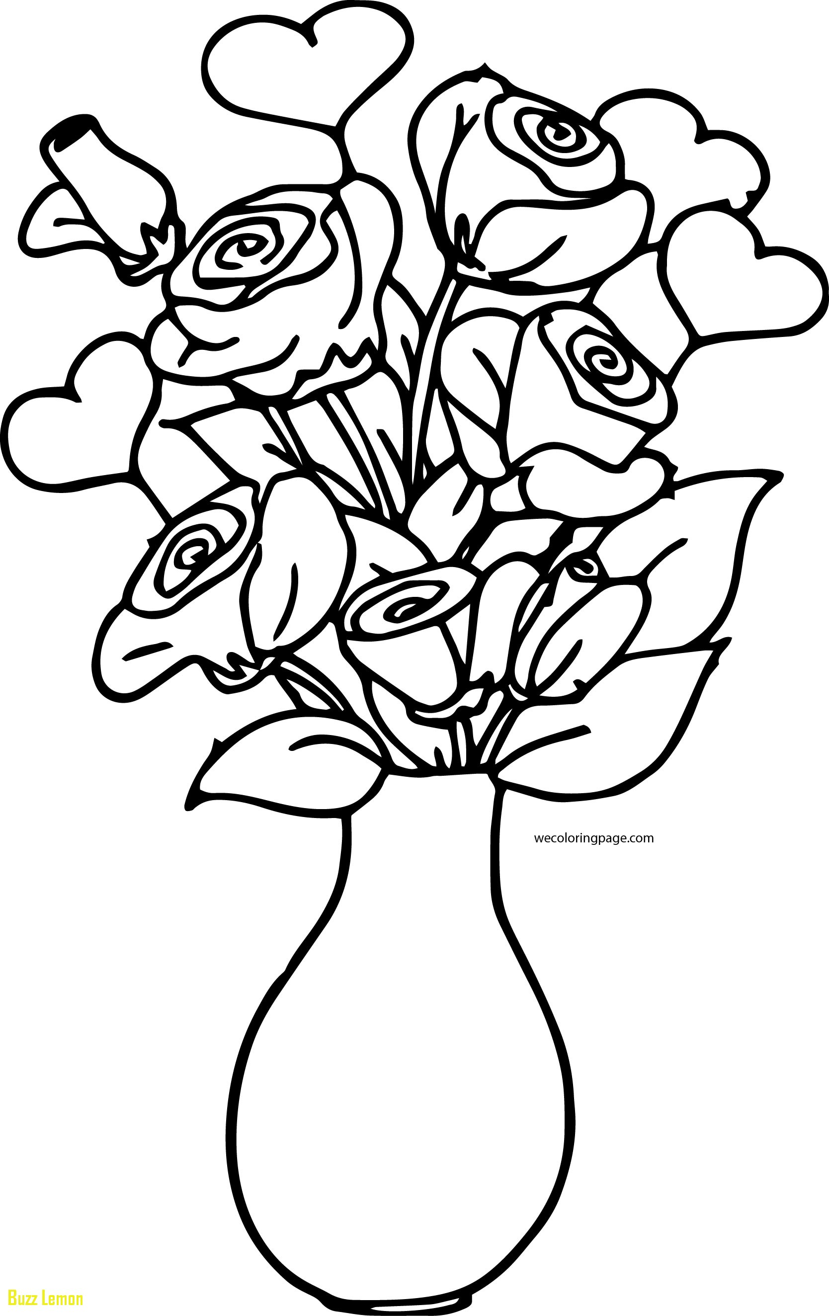 1668x2648 Coloring Page Vase New Rose Bucket In Vase Coloring Page