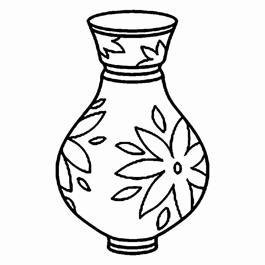 900x900 Coloring Pages Printables Unique Flowers In Vase Coloring Pageh