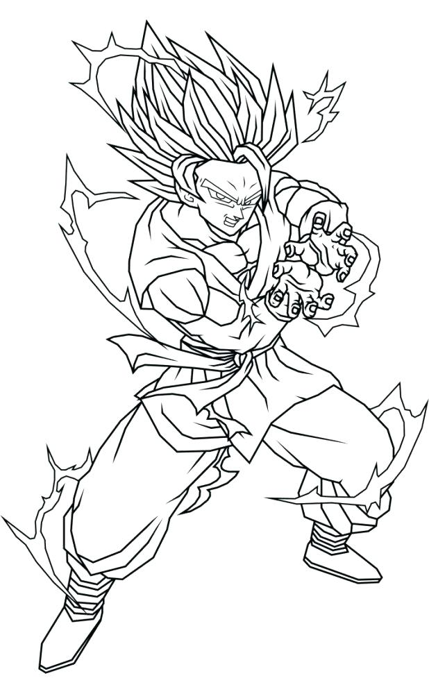 618x977 Goku Coloring Page