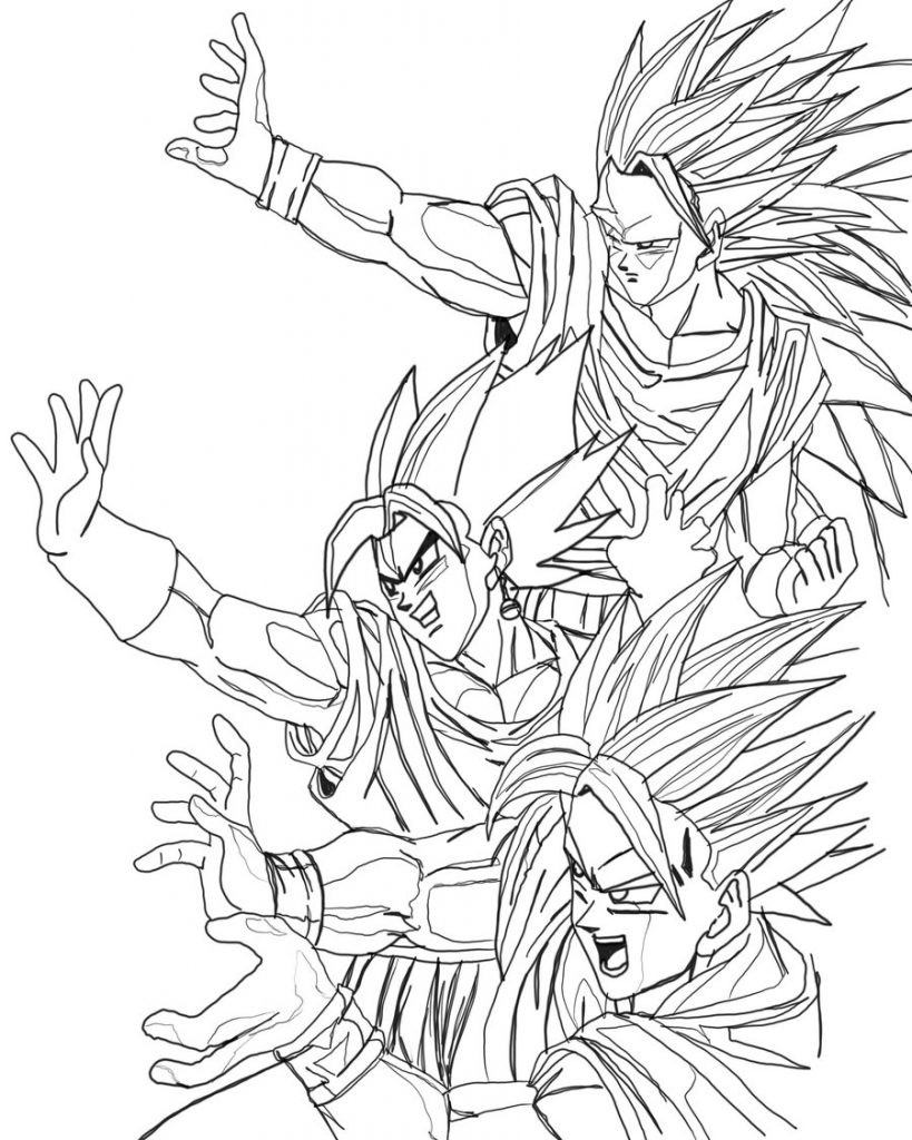 819x1024 Dragon Ball Z Coloring Pages Vegeta And Goku Many Interesting