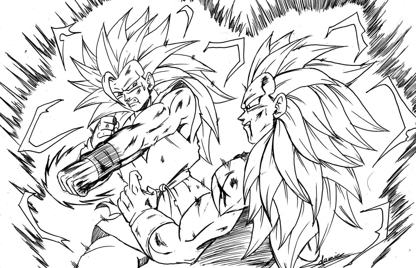 1600x1030 Dragon Ball Z Goku Coloring Pages