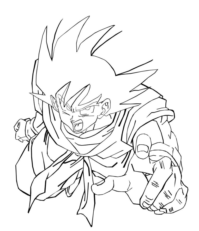 829x963 Goku Coloring Pages Plain Dragon Ball Z Vs Vegeta Follows