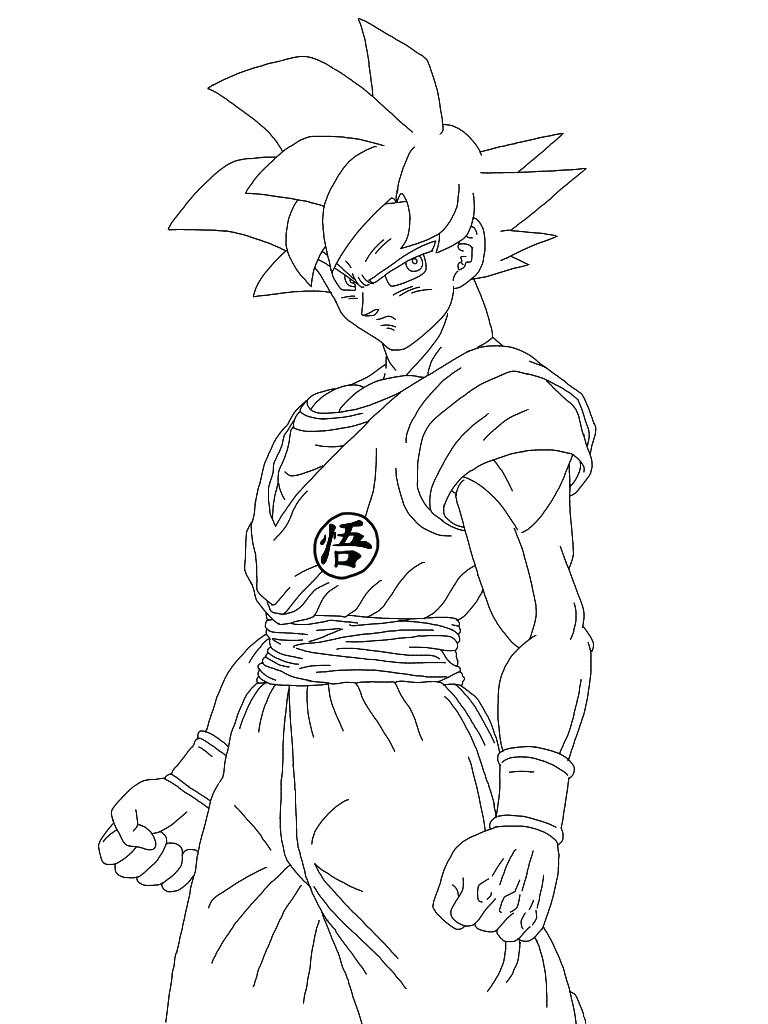 768x1024 Goku Vegeta Coloring Pages Colorine Net Home Throughout