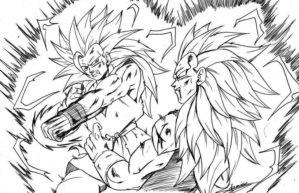 1024x659 Incredible Decoration Goku Coloring Pages Awesome Dragon Ball Goku