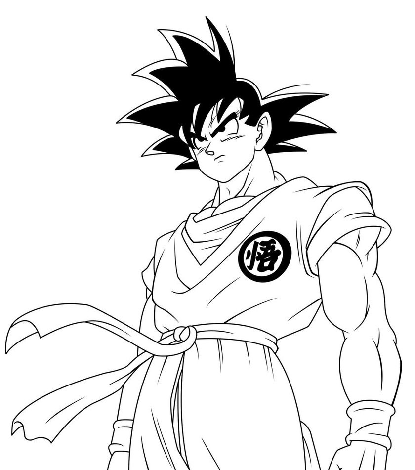 840x951 Nonsensical Dragon Ball Z Coloring Pages Goku Vs Vegeta Black