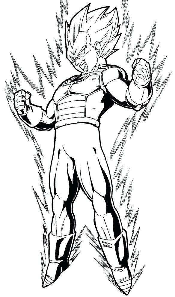 584x988 Unique Dragon Ball Z Vegeta Coloring Pages And Dragon Ball Z Super