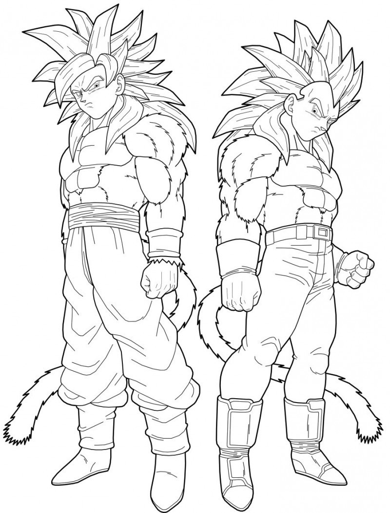 800x1050 Vegeta And Goku Super Saiyan Coloring Pages Dragon Ball