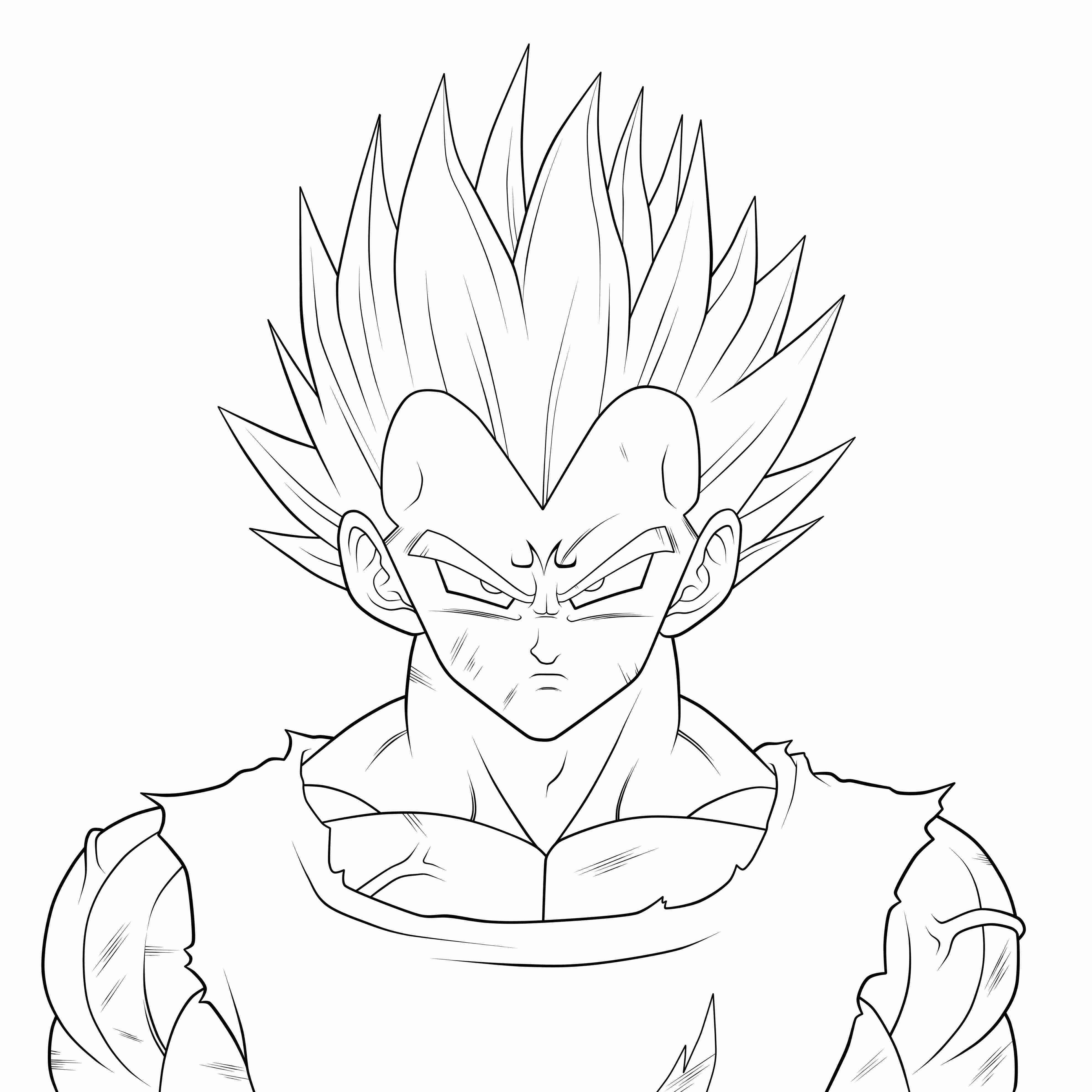 3950x3950 Vegeta Coloring Pages