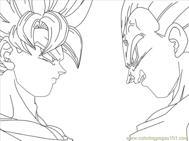 650x487 Vegeta Coloring Pages