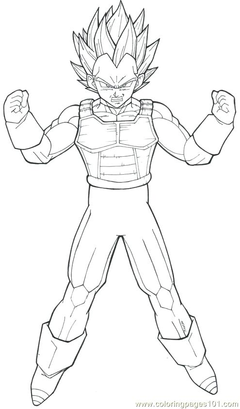 495x843 Vegeta Super Saiyan Coloring Pages