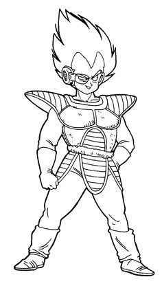 236x419 Dragon Ball Vegeta Coloring Pages