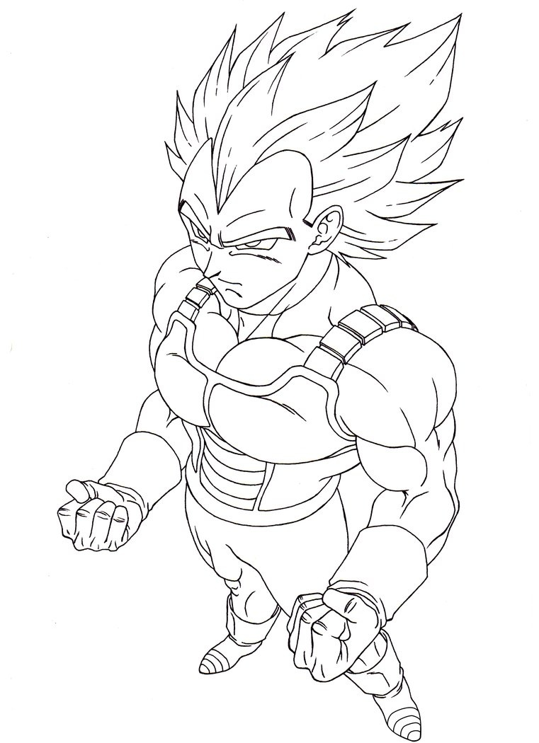 761x1050 Free Vegeta Super Saiyan Coloring Pages