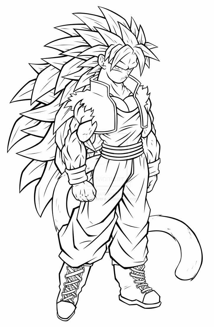 Vegeta Super Saiyan Coloring Pages