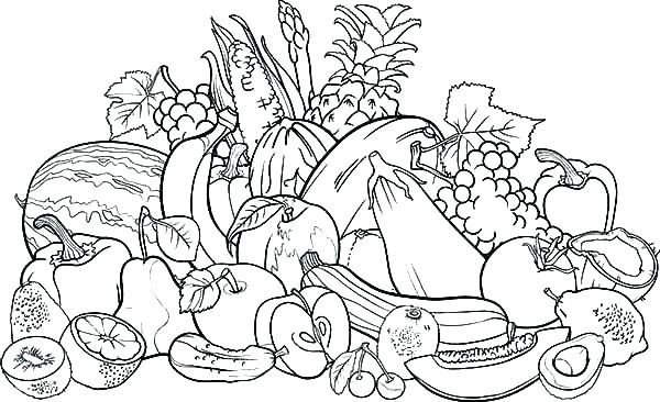 Free Printable Fruit Coloring Pages For Kids | 366x600