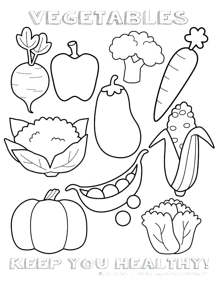 Vegetable Basket Coloring Pages At Getdrawings Free Download
