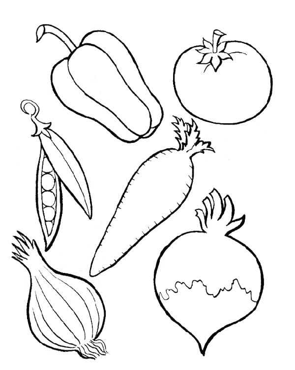 600x751 Vegetable Coloring Page Vegetables Coloring Pages Vegetable Basket