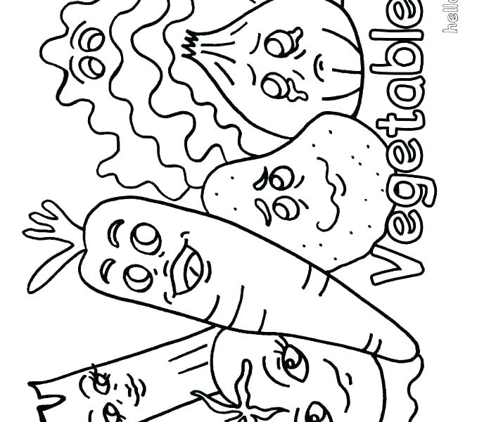 678x600 Vegetable Coloring Pages S S S Vegetable Colouring Pages