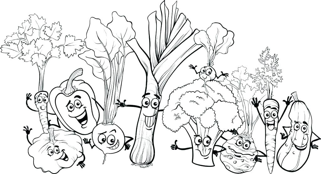 1024x555 Vegetable Coloring Pages Vegetables Coloring Pages Vegetable