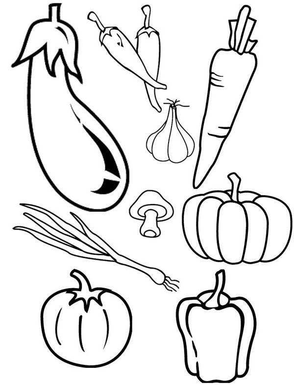 Vegetable Coloring Pages At Getdrawings Com Free For Personal Use