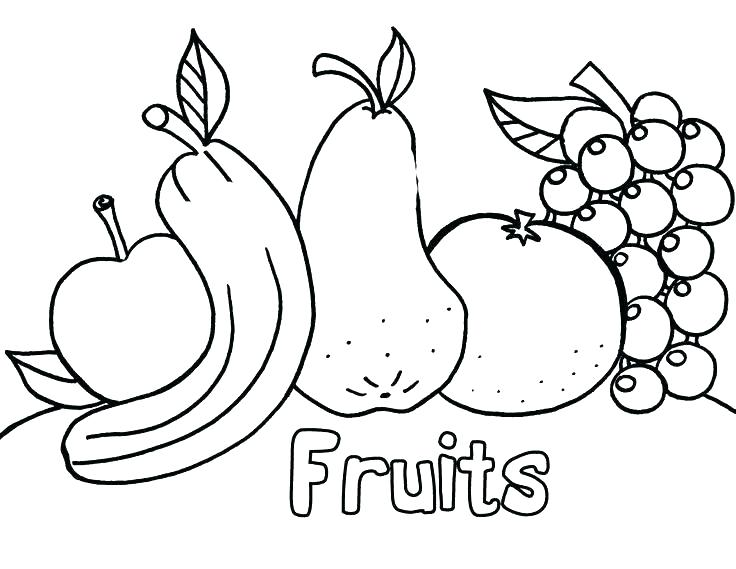 736x569 Fruit And Vegetable Coloring Pages Fruit Coloring Pages Coloring